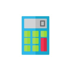 calculator flat Icon. bank and financial vector illustration on white background
