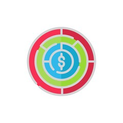 labyrinth flat Icon. bank and financial vector illustration on white background