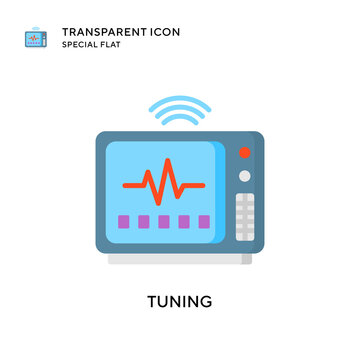 Tuning vector icon. Flat style illustration. EPS 10 vector.