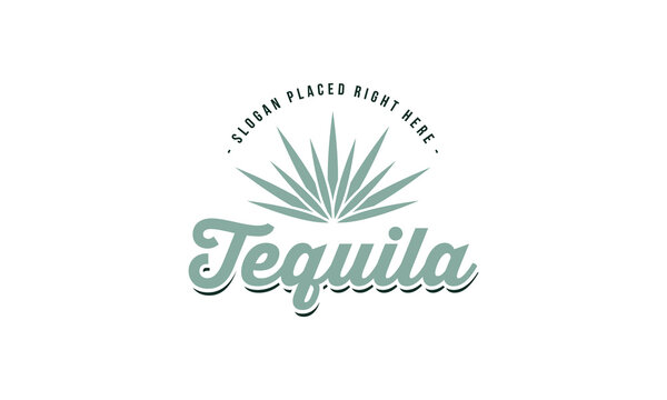 illustration vector graphic of classic, retro, vintage, abstract mark for tequila logo design