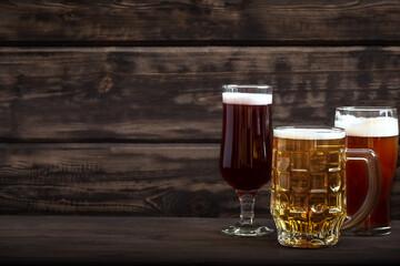 Various sorts of beer