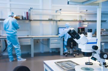 Interior of modern research laboratory