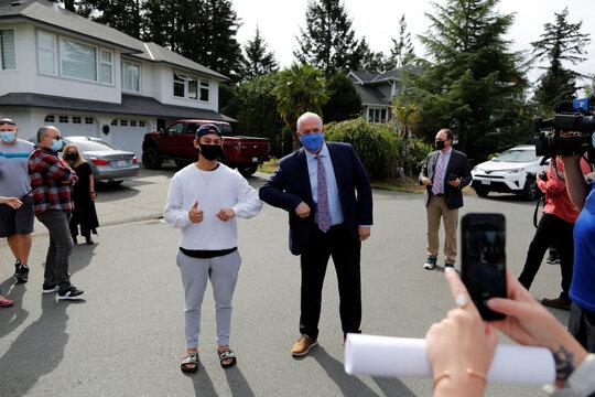 British Columbia Premier John Horgan announces an election in Langford