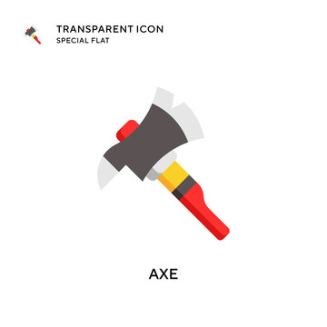 Axe vector icon. Flat style illustration. EPS 10 vector.