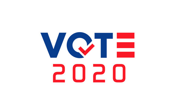 Vote 2020. United States of America presidential election day, November 3. Graphic design elements for USA political event.