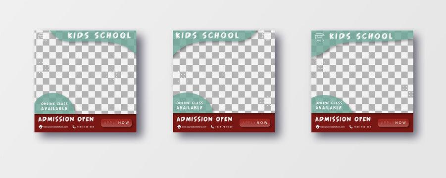 Social media post template for school admission program