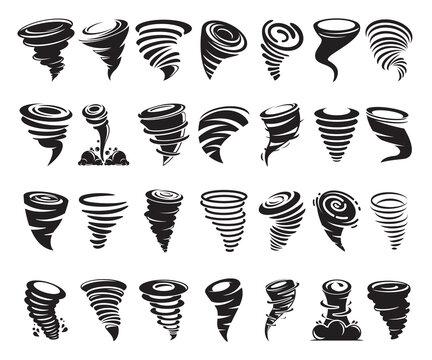typhoon, hurricane, tornado symbol vector illustration