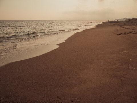 神奈川県大磯町 大磯こゆるぎの浜の風景