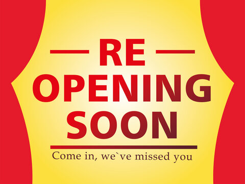 re opening soon, come in we ave missed you