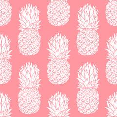 Pineapples seamless pattern