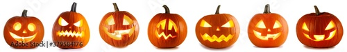 Collection of Lantern Halloween pumpkins