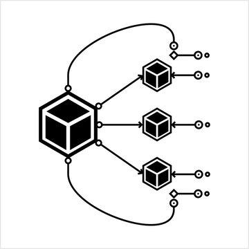 Microservices Icon, Software Development Technique