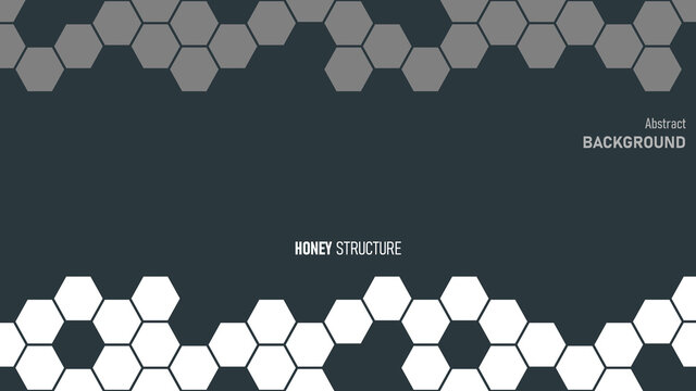 Background vector with honey structure. Abstract color contrast illustration. Simple geometric shapes, creative template.