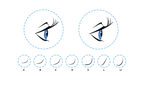 Eyelash extension, Woman's eye with long thick eyelashes. Close-up, selective focus. Leadership. Infographic vector illustration