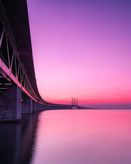 Oresunds Bridge After Dusk