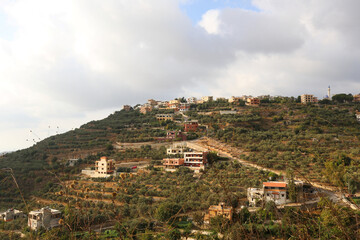 A view of the village of Ain Qana, in Lebanon