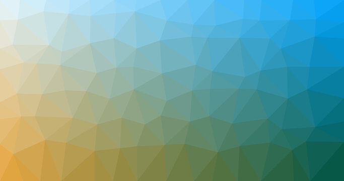Textured blue yellow triangular background for wallpapers