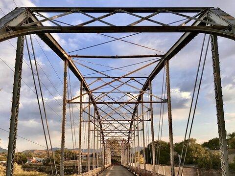 Vintage bridge over the Colorado
