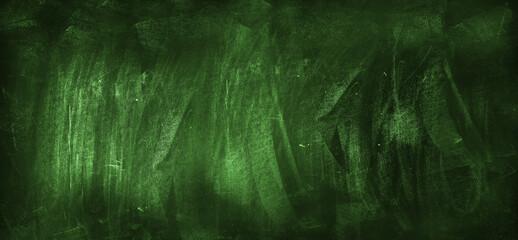 Green blackboard or chalkboard