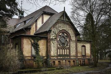 Acrylic Prints Old Hospital Beelitz Abandoned old hospital Beelitz