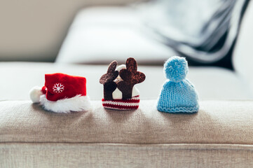 Variety of tiny holiday hats