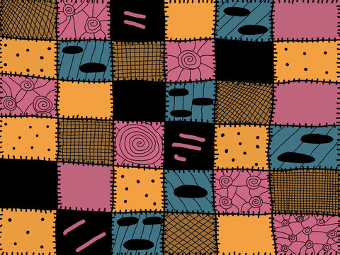 Sally theme patchwork quilt theme