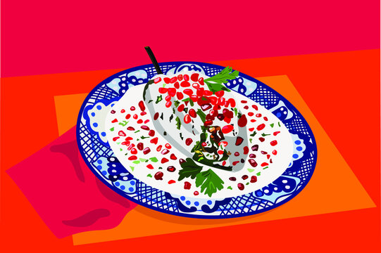 Mexican Food: Chiles en Nogada - Chili with walnut sauce