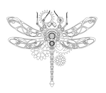 Contour mechanical dragonfly