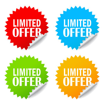 Limited offer vector sticker