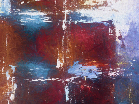 Abstract Art Texture Background Acrylic Painting Hand Painted