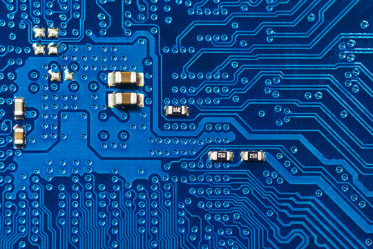 Blue printed circuit board background