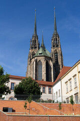 Cathedral of Saint Peter and Paul (Katedrala svateho Petra a Pavla), Petrov, Brno, Czech Republic / Czechia - historical religious and sacral building made in gothic revival architecture style.