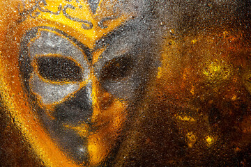 image of mask water drop