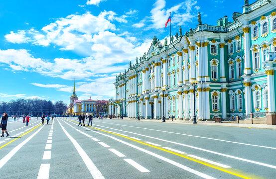 The main square in Saint Petersburg, Russia