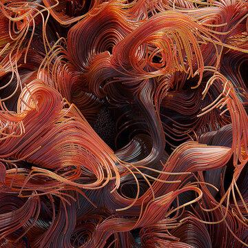 Glowing orange strands