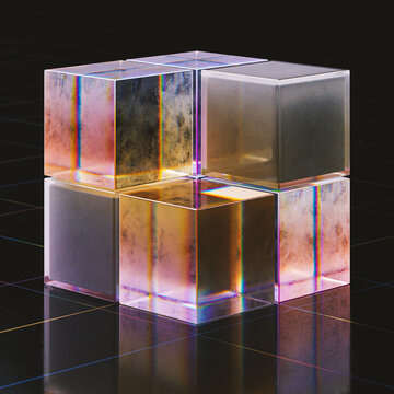 Glass cubes
