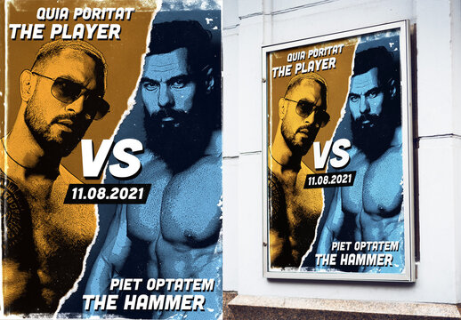 Sport Match Style Poster Photo Effect