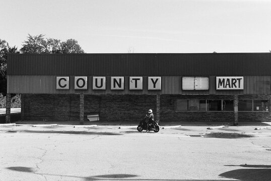 abandoned country market in small town