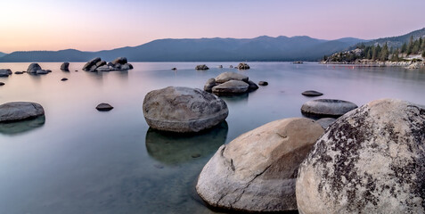 beautiful sierra scenery at lake tahoe california