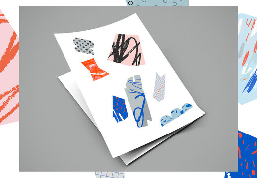 Kit artistico di collage e cutout