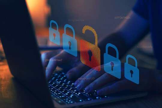 hacker attack, cyber crime concept