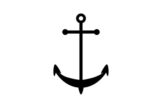 Classic ship anchor icon in vector