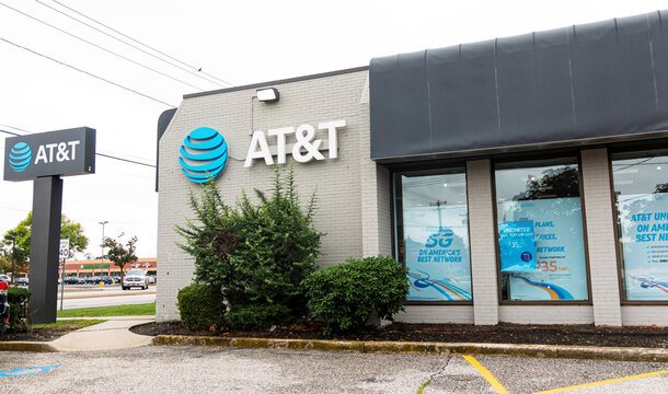 AT&T Store on a highway