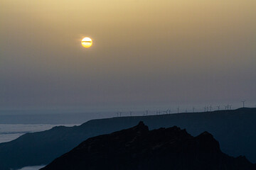 Sunset over Pico do Arieiro, Madeira