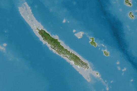 New Caledonia borders. Satellite