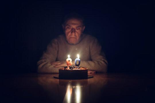 Birthday of senior man