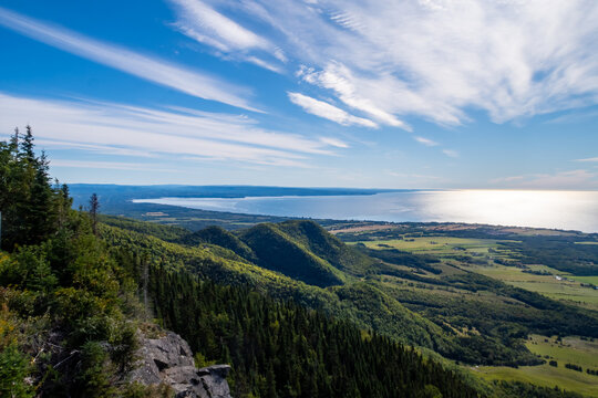 Beautiful HDR view from the top of the mont Joseph, in Carleton-sur-mer, Canada