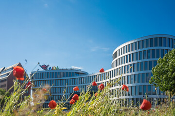 Rostock, GERMANY - April 10, 2019: AIDA building office.
