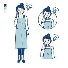 simple apron woman_Be-troubled