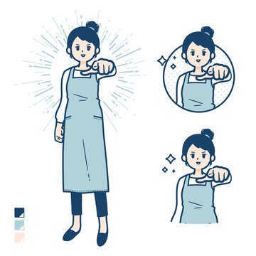 simple apron woman_want-you